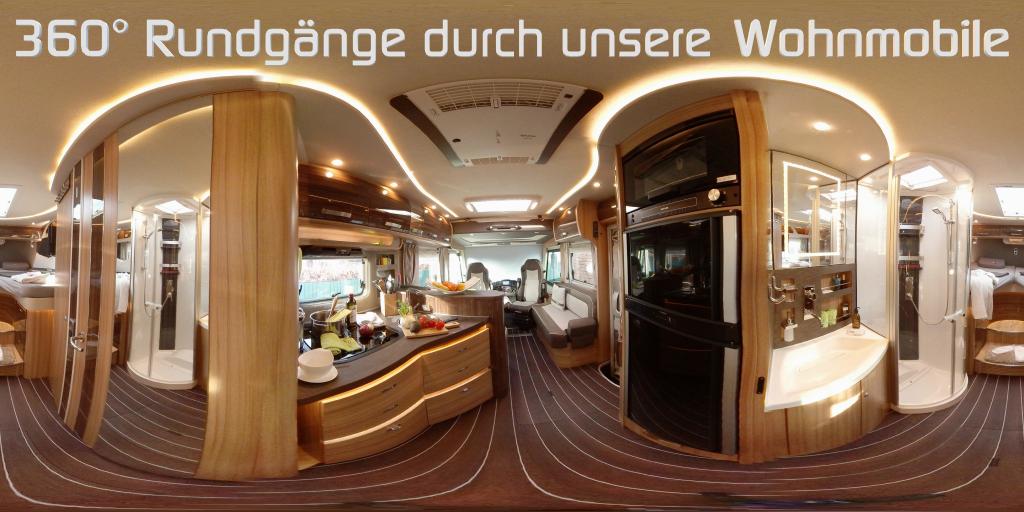 virtueller 360° Rundgang durch unsere Wohnmobile