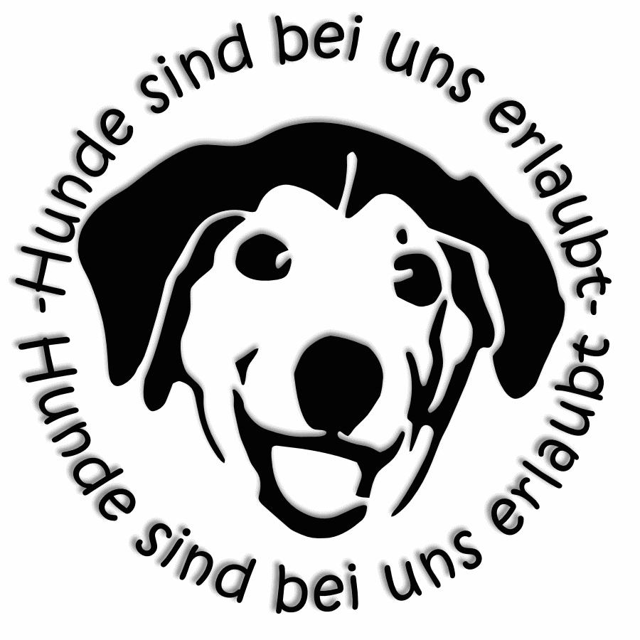 Hunde sind bei uns erlaubt